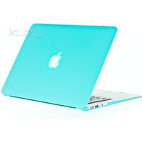 Amazon.com: Kuzy - AIR 13-inch Teal / Turquoise Hot BLUE Rubberized Hard Case Satin for NEW Apple MacBook Air 13.3&quot; (A1369 and A1466) Aluminum Unibody SeeThru Cover: Computers &amp; Accessories