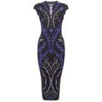 Alexander McQueen : BUTTERFLY JACQUARD PENCIL DRESS