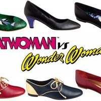 Andre's Footwear Collection Features Wonder Woman and Catwoman - ComicsAlliance | Comic book culture, news, humor, commentary, and reviews