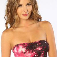 The Galaxy Bandeau in Fuchsia