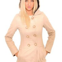 Hooded Double Buttons Coat - by Pilot