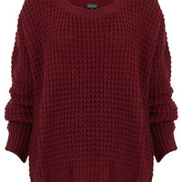 Knitted Scoop Neck Jumper - Knitwear  - Clothing