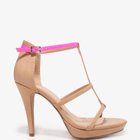 Neon Strap Platform Sandals