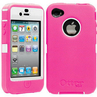 BRAND NEW OTTERBOX DEFENDER CASE FOR APPLE IPHONE 4. HYBRID PINK/WHITE