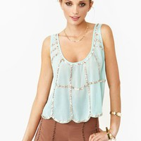Sequin Scallop Tank