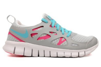 Nike Free Run 2.0 GS Grey Blue Pink Flash 2012 Youth Running Shoes