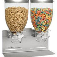 Zevro Dual Dry food Dispenser, Stainless Steel: Amazon.com: Kitchen & Dining