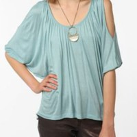UrbanOutfitters.com &gt; Daydreamer LA Solid Cold Shoulder Oversized Tee