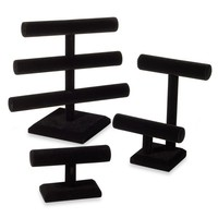 Tiered Black Velvet Jewelry Organizers