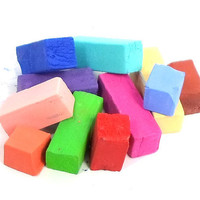 Hair Chalk Sampler Pack - 9 Colors - Broken Pieces in Random Colors - Temporary Hair Color - Gifts Under 5 - Trendy Hair