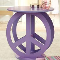 Amazon.com: Peace Sign Purple End Accent Table Display Stand: Home &amp; Kitchen