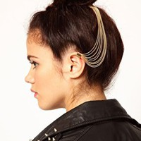 River Island Ear Cuff And Hair Slide at asos.com