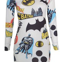 Funky Batman Print Mini Dress