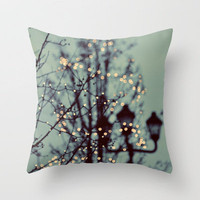 Winter Lights Throw Pillow by Elle Moss | Society6