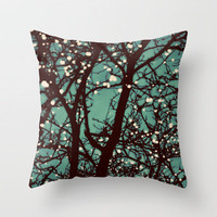 Night Lights Throw Pillow by Elle Moss | Society6