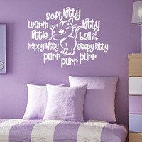 Soft Kitty Warm Kitty - Big Bang Theory - Vinyl Wall Decal