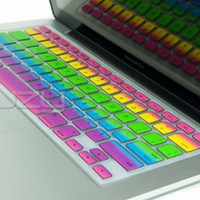 Kuzy - Rainbow Keyboard Silicone Cover Skin for MacBook / MacBook Pro 13