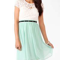 Textured Lace Sweetheart Dress