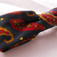Vintage Child's Paisley Bow Tie by GiltyGirlVintage on Etsy