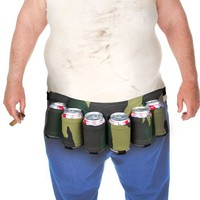 Big Mouth Toys Beer Belt / 6 Pack Holster(Camo)