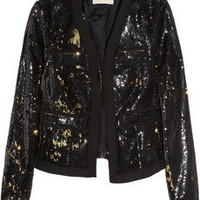 MICHAEL Michael Kors | Two-tone sequin-embellished jacket | NET-A-PORTER.COM