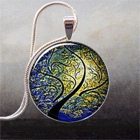 Willow Wind and Sun art pendant charm resin by thependantemporium