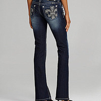 Miss Me Jeans Fleur-De-Lis Embroidered Bootcut Jeans | Dillards.com