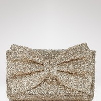 Betsey Johnson Bow-Tiful Sequin Clutch | Bloomingdale's