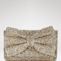 Betsey Johnson Bow-Tiful Sequin Clutch | Bloomingdale&#x27;s