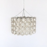 worlds away peony capiz shell chandelier modern li