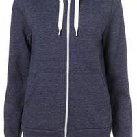 Navy Hooded Sweat Top - Jersey Tops  - Clothing
