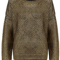 Knitted Foil Mesh Jumper - Knitwear  - Clothing