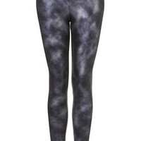 Foil Tie Dye Ponte Leggings - Pants & Leggings  - Clothing