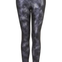 Foil Tie Dye Ponte Leggings - Pants &amp; Leggings  - Clothing