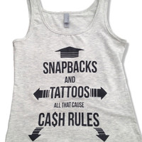Snapbacks and Tattoos Women's Tank Top