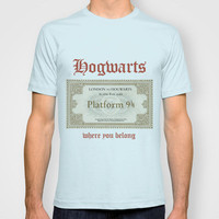 London to Hogwarts Ticket T-shirt by Bright Enough ▲ | Society6
