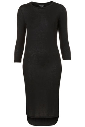 3/4 Sleeve Midi Jersey Dress