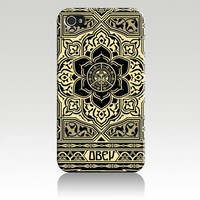 Obey Peace and Justice Ornament Hard Case Cover Skin for Iphone 4 4s Iphone4 At&t Sprint Verizon Ret