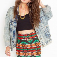 Azteca Skirt - NASTY GAL