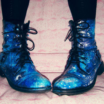 galaxy boots painted waterproof faux from