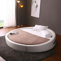 VIG Furniture - Opus Modern Round Bed with Mattress