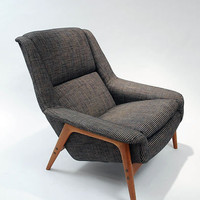 Dux vintage lounge chair Folk Ohlsson Danish modern