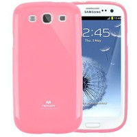 Mercury Slim Fit Case for Samsung Galaxy S3 GT-i9300 - Fits Verizon, AT and T, T-Mobile, Sprint - Pi