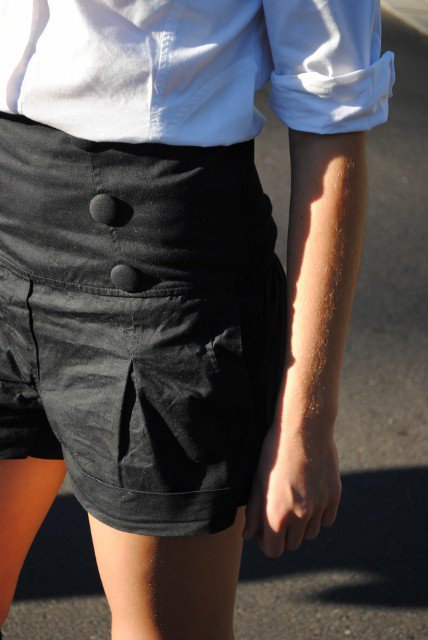 Highwaisted Black Shorts
