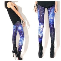 Blue Tint Galaxy Leggings