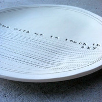 8 dish come with me to touch the sky by mbartstudios on Etsy