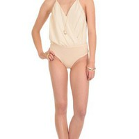 TOPS > DEFEND YOUR SINS BODYSUIT IN BEIGE