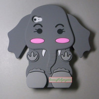 New designer 3D Elephant Cute POCKET FULL Soft Case Cover for iPhone 4 4G 4S