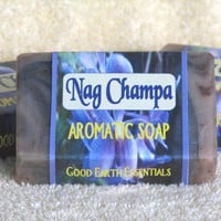 NAG CHAMPA aromatic bath soap, rich with skin softening shea butter