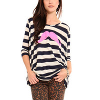 GYPSY WARRIOR - Striped Mustache Dolman